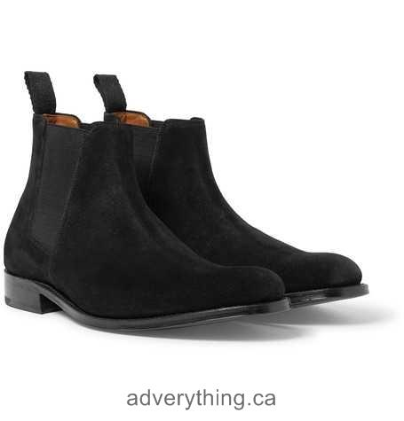 Clearance price Grenson Declan Suede Chelsea Boots Men Black
