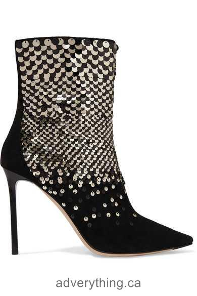 Best Discounts Jimmy Choo 100 embellished suede ankle boots Women Black