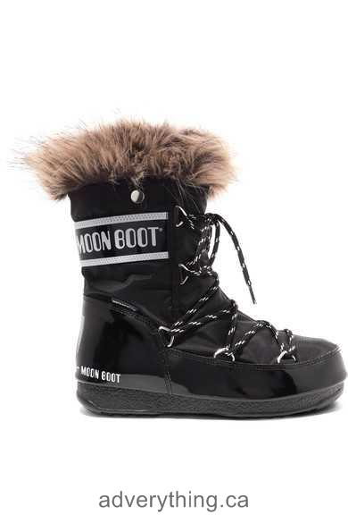 Affordable price Moon Boot Monaco faux fur-trimmed shell-piqué and faux leather snow boots Women Black shell-piqué