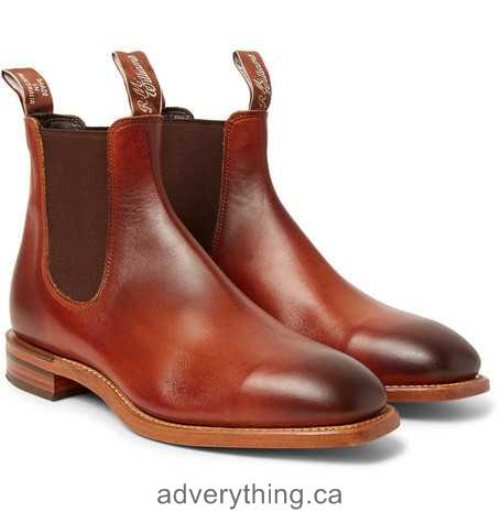 Slash price R.M.Williams Chinchilla Burnished-Leather Chelsea Boots Brown Men