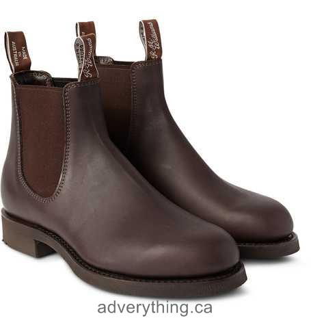 Exclusive sale R.M.Williams Gardener Whole-Cut Leather Chelsea Boots Men Chocolate-brown