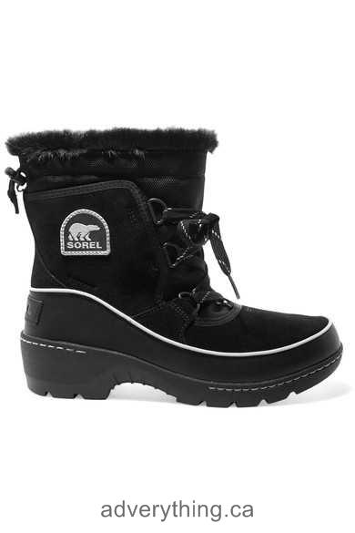Good sale Sorel Torino waterproof suede, shell and leather ankle boots Women Black