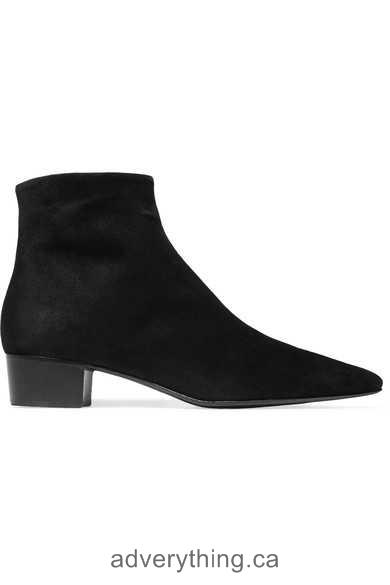Cheap Sale The Row Ambra suede ankle boots Women Black